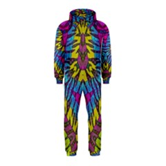 Crazy Beautiful Abstract Animal Print  Hooded Jumpsuit (kids)