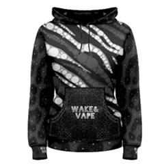 Wake&Vape Leopard  Women s Pullover Hoodie