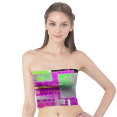 Crazy Florescent Abstract  Women s Tube Tops