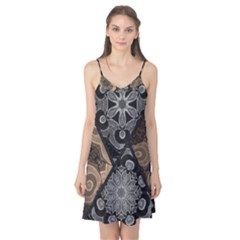 Crazy Beautiful Black Brown Abstract  Camis Nightgown