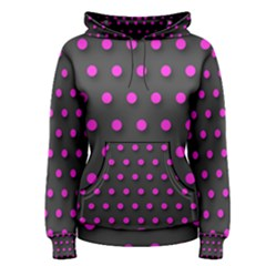 Pink Polka-dot Abstract  Women s Pullover Hoodies