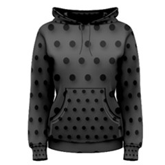 Black and Grey Polka-dot  Women s Pullover Hoodies