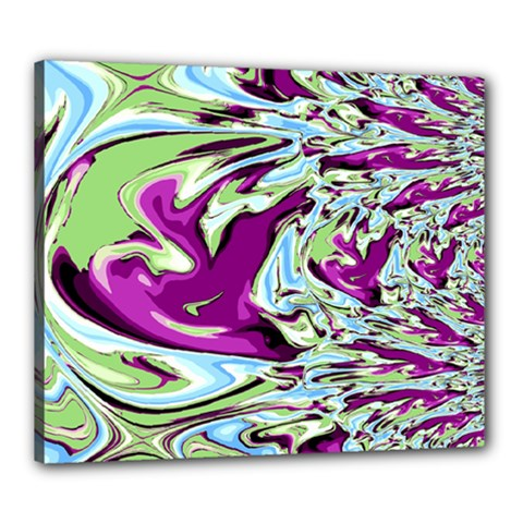 Purple, Green, and Blue Abstract Canvas 24  x 20