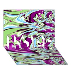 Purple, Green, And Blue Abstract Hope 3d Greeting Card (7x5)