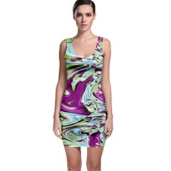 Purple, Green, And Blue Abstract Bodycon Dresses