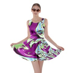 Purple, Green, and Blue Abstract Skater Dresses