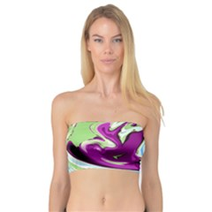 Purple, Green, and Blue Abstract Women s Bandeau Tops