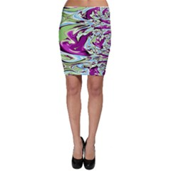 Purple, Green, and Blue Abstract Bodycon Skirts