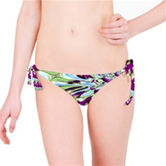 Purple, Green, And Blue Abstract Bikini Bottoms