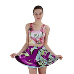 Purple, Green, and Blue Abstract Mini Skirts