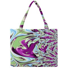Purple, Green, And Blue Abstract Tiny Tote Bags