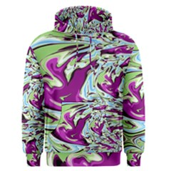 Purple, Green, and Blue Abstract Men s Pullover Hoodies