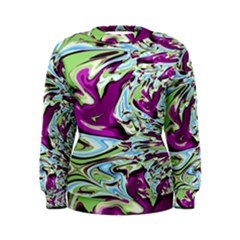 Purple, Green, And Blue Abstract Women s Sweatshirts