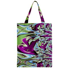 Purple, Green, and Blue Abstract Zipper Classic Tote Bags