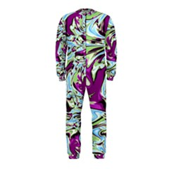 Purple, Green, and Blue Abstract OnePiece Jumpsuit (Kids)