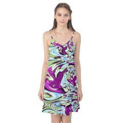 Purple, Green, and Blue Abstract Camis Nightgown
