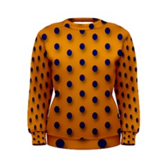 Florescent Orange Black Polka-dot  Women s Sweatshirts