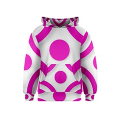 Hot Pink White abstract  Kid s Pullover Hoodies