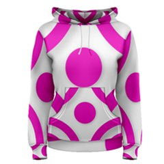 Hot Pink White Abstract  Women s Pullover Hoodies