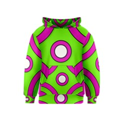 Neon Green Pink Abstract  Kid s Pullover Hoodies