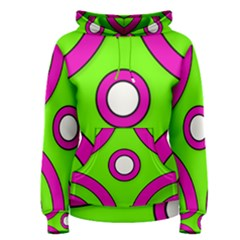 Neon Green Pink Abstract  Women s Pullover Hoodies
