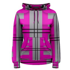 Florescent Pink Grey Abstract  Women s Pullover Hoodies