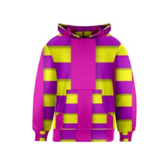 Hot Pink Purple Yellow Abstract  Kid s Pullover Hoodies