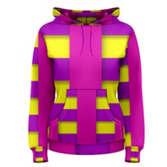 Hot Pink Purple Yellow Abstract  Women s Pullover Hoodies