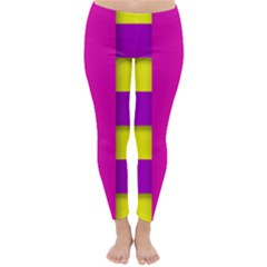 Florescent Pink Purple Abstract  Winter Leggings