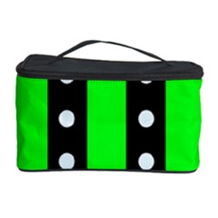 Florescent Green Polka-dot  Cosmetic Storage Cases