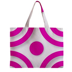 Florescent Pink White abstract  Zipper Tiny Tote Bags