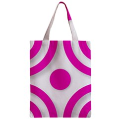 Florescent Pink White abstract  Zipper Classic Tote Bags