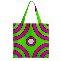 Neon Green Black Pink Abstract  Grocery Tote Bags