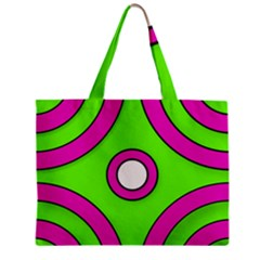 Neon Green Black Pink Abstract  Zipper Tiny Tote Bags