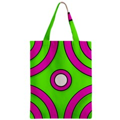Neon Green Black Pink Abstract  Zipper Classic Tote Bags
