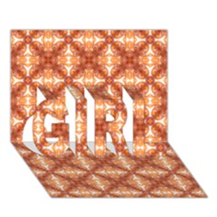 Cute Pattern Gifts Girl 3d Greeting Card (7x5)