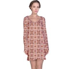 Cute Pattern Gifts Long Sleeve Nightdresses