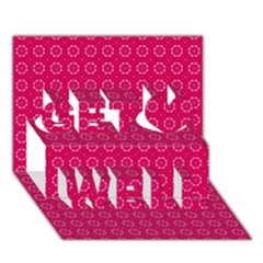 Cute Pattern Gifts Get Well 3d Greeting Card (7x5)