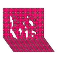 Cute Pattern Gifts LOVE 3D Greeting Card (7x5)