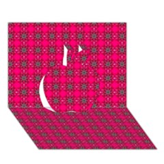 Cute Pattern Gifts Apple 3D Greeting Card (7x5)