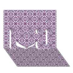 Cute Pattern Gifts I Love You 3D Greeting Card (7x5)