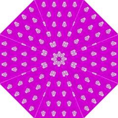 Skull Pattern Hot Pink Folding Umbrellas