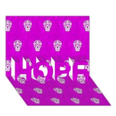 Skull Pattern Hot Pink HOPE 3D Greeting Card (7x5)