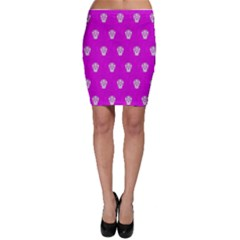 Skull Pattern Hot Pink Bodycon Skirts