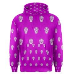 Skull Pattern Hot Pink Men s Pullover Hoodies