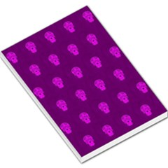 Skull Pattern Purple Large Memo Pads