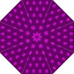 Skull Pattern Purple Golf Umbrellas