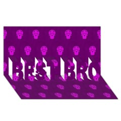 Skull Pattern Purple BEST BRO 3D Greeting Card (8x4)
