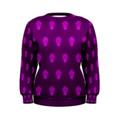 Skull Pattern Purple Women s Sweatshirts