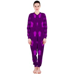 Skull Pattern Purple OnePiece Jumpsuit (Ladies)